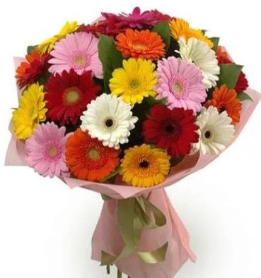 Karışık büyük boy gerbera çiçek buketi  Samsun 14 şubat sevgililer günü çiçek